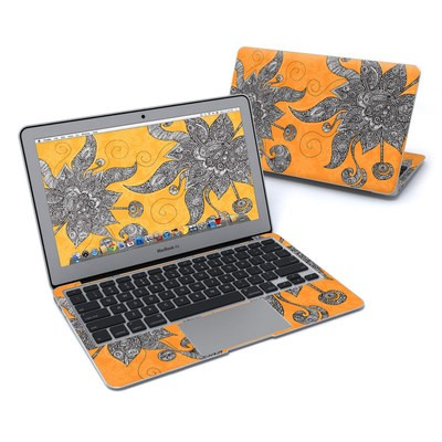 MacBook Air 11in Skin - Orange Flowers