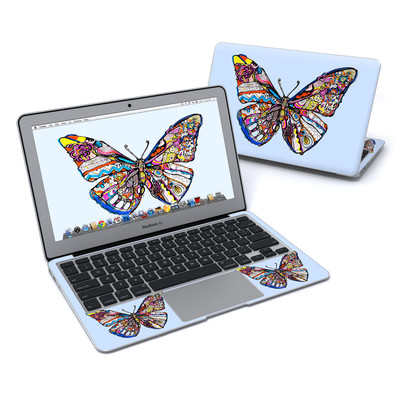 MacBook Air 11in Skin - Pieced Butterfly