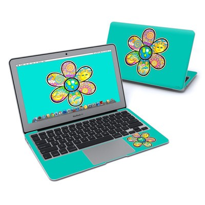 MacBook Air 11in Skin - Peace Flower