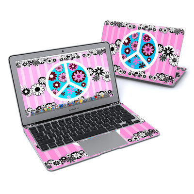 MacBook Air 11in Skin - Peace Flowers Pink