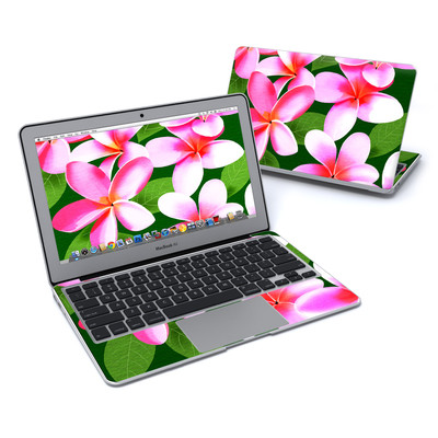 MacBook Air 11in Skin - Pink Plumerias