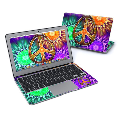 MacBook Air 11in Skin - Peace Triptik