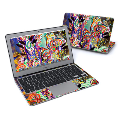 MacBook Air 11in Skin - Purple Birds