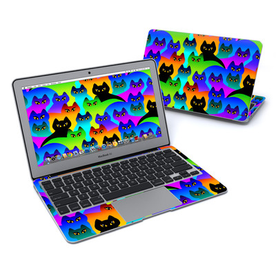 MacBook Air 11in Skin - Rainbow Cats