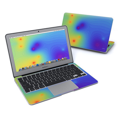 MacBook Air 11in Skin - Rainbow Contours