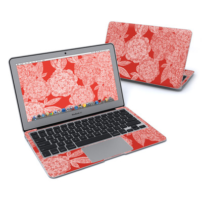 MacBook Air 11in Skin - Red Dahlias