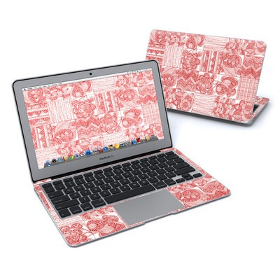 MacBook Air 11in Skin - Red Quilt