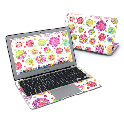 MacBook Air 11in Skin - Round Flowers