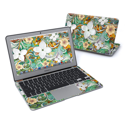 MacBook Air 11in Skin - Sangria Flora