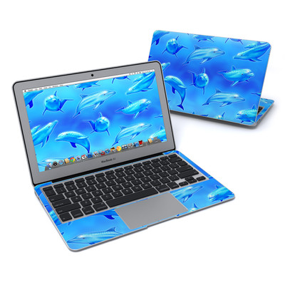 MacBook Air 11in Skin - Swimming Dolphins