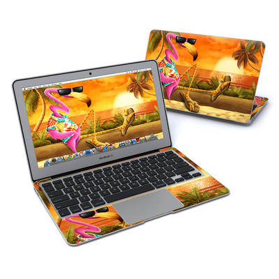 MacBook Air 11in Skin - Sunset Flamingo