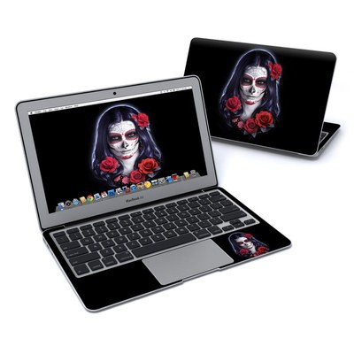 MacBook Air 11in Skin - Sugar Skull Rose