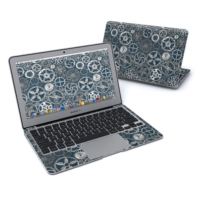 MacBook Air 11in Skin - Silver Gears