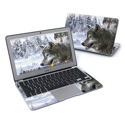 MacBook Air 11in Skin - Snow Wolves