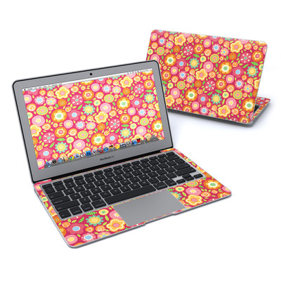 MacBook Air 11in Skin - Flowers Squished