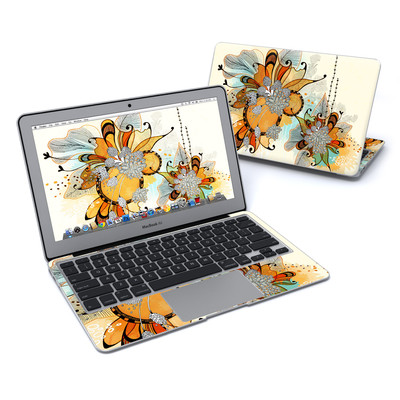 MacBook Air 11in Skin - Sunset Flowers