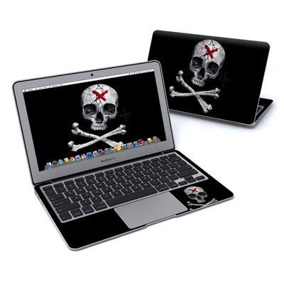 MacBook Air 11in Skin - Stigmata Skull