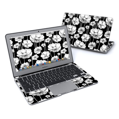 MacBook Air 11in Skin - Striped Blooms