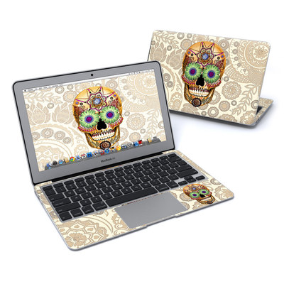 MacBook Air 11in Skin - Sugar Skull Bone