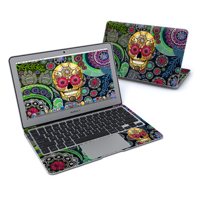 MacBook Air 11in Skin - Sugar Skull Paisley