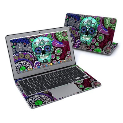 MacBook Air 11in Skin - Sugar Skull Sombrero