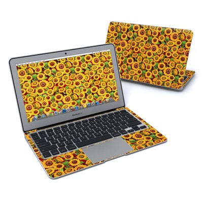 MacBook Air 11in Skin - Sunflower Patch