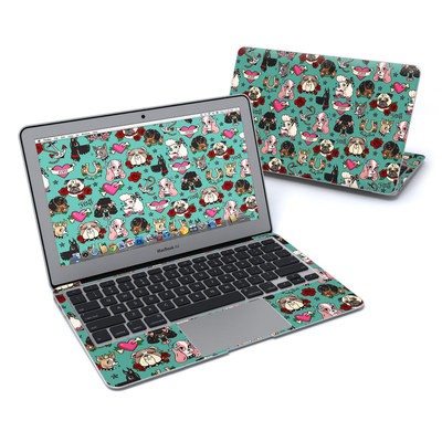 MacBook Air 11in Skin - Tattoo Dogs