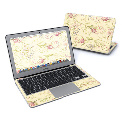 MacBook Air 11in Skin - Tulip Scroll