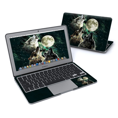 MacBook Air 11in Skin - Three Wolf Moon