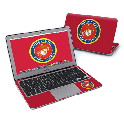MacBook Air 11in Skin - USMC Red