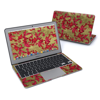MacBook Air 11in Skin - Vintage Scarlet