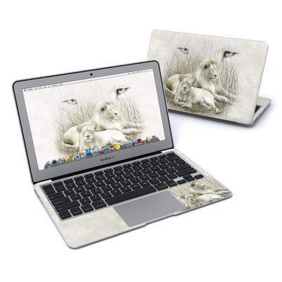 MacBook Air 11in Skin - White Lion