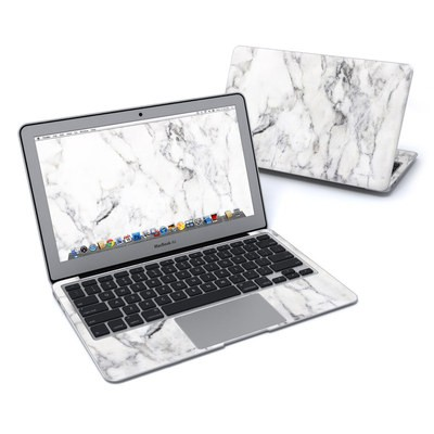 MacBook Air 11in Skin - White Marble