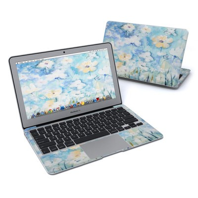MacBook Air 11in Skin - White & Blue