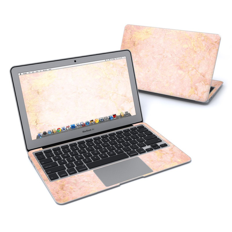 Macbook Air 11in Skin Rose Gold Marble By Marble Collection