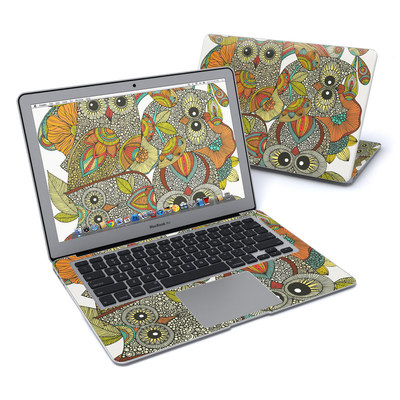 MacBook Air 13in Skin - 4 owls