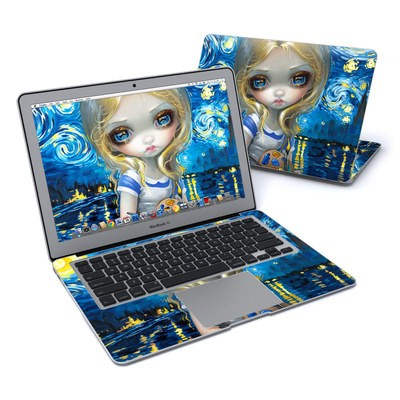MacBook Air 13in Skin - Alice in a Van Gogh