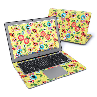 MacBook Air 13in Skin - Button Flowers