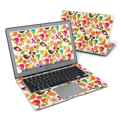 MacBook Air 13in Skin - Bird Flowers
