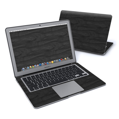 MacBook Air 13in Skin - Black Woodgrain
