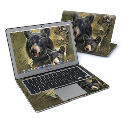 MacBook Air 13in Skin - Black Bears