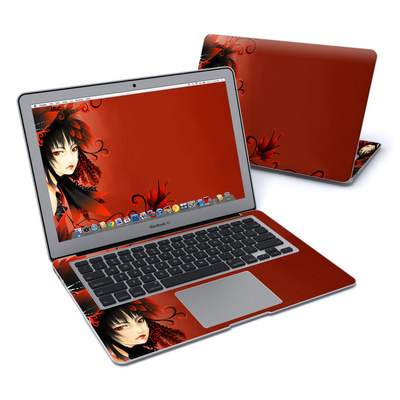 MacBook Air 13in Skin - Black Flower