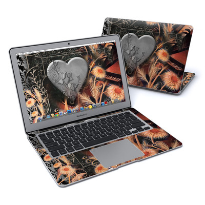MacBook Air 13in Skin - Black Lace Flower