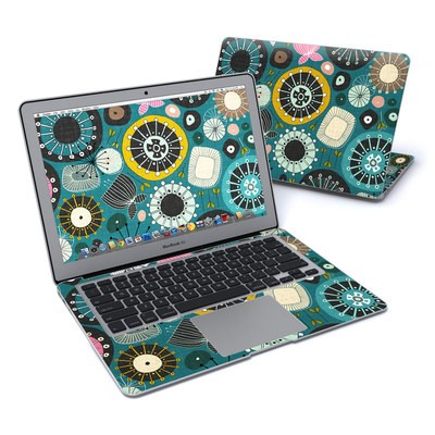 MacBook Air 13in Skin - Blooms Teal