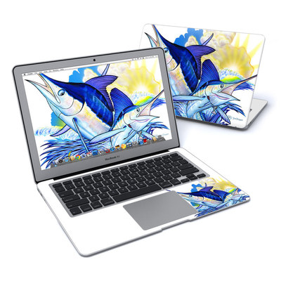 MacBook Air 13in Skin - Blue White and Yellow