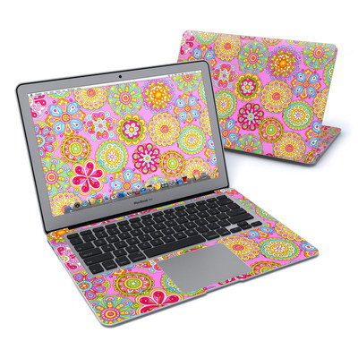 MacBook Air 13in Skin - Bright Flowers