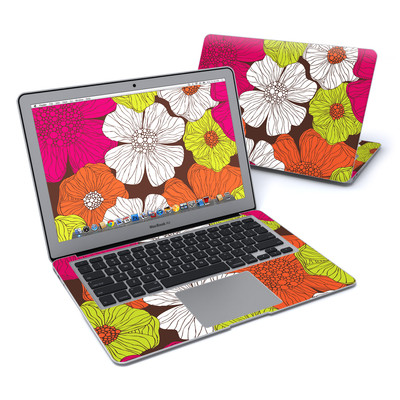 MacBook Air 13in Skin - Brown Flowers
