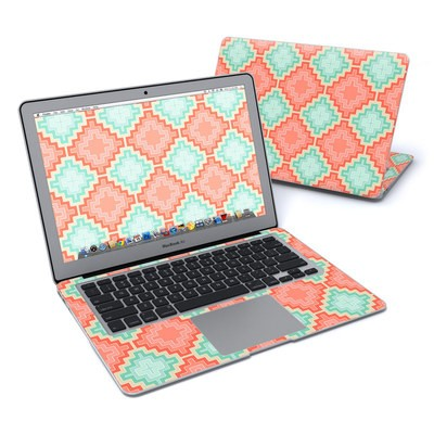 MacBook Air 13in Skin - Coral Diamond
