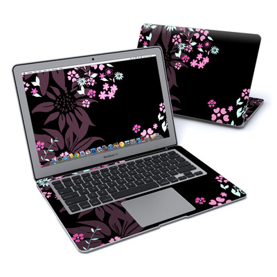 MacBook Air 13in Skin - Dark Flowers