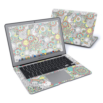 MacBook Air 13in Skin - Faded Floral